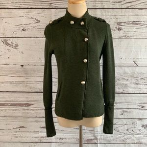 Banana Republic Green Long Sleeves Cardigan